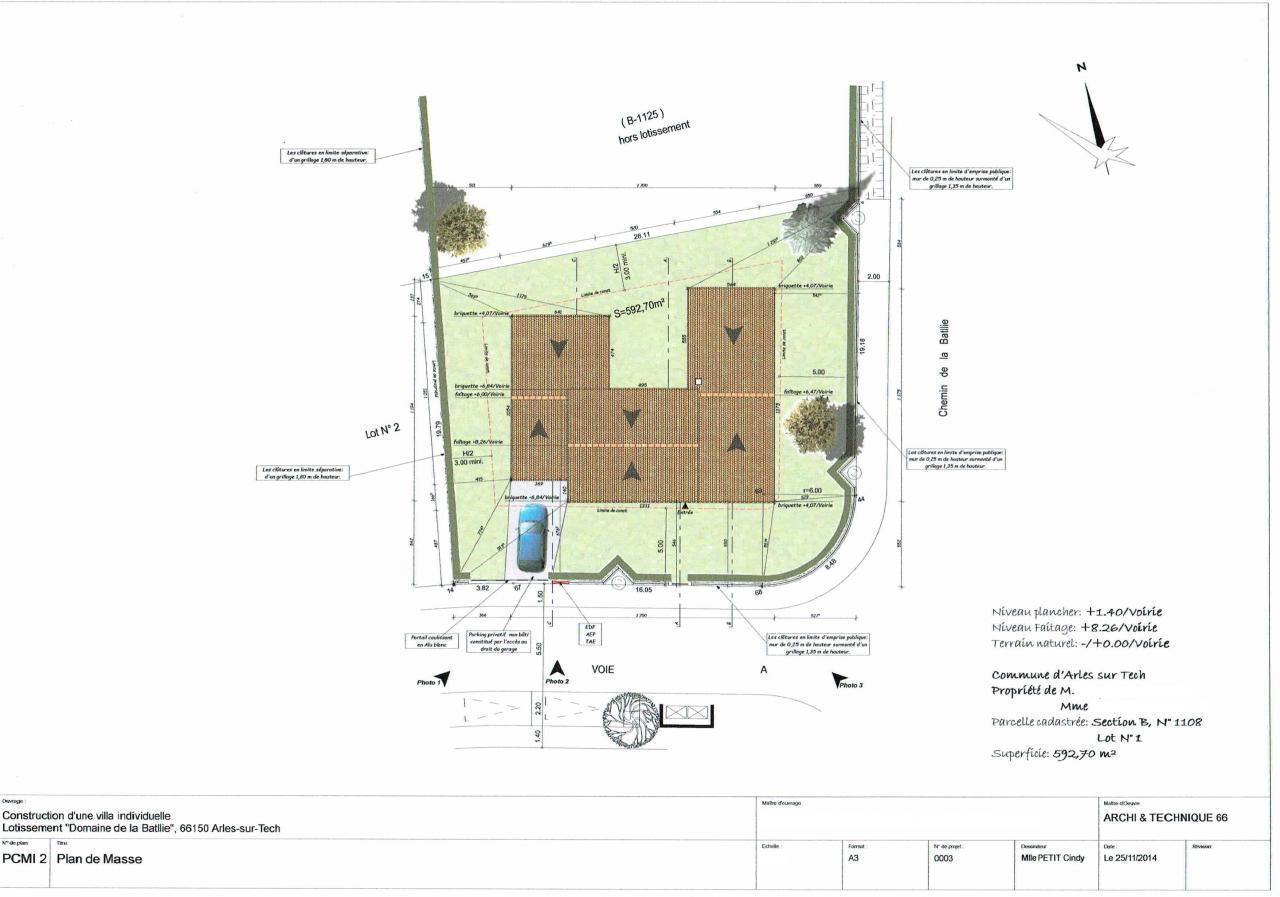 Maison individuelle de 168 m2 for Plan de masse maison individuelle